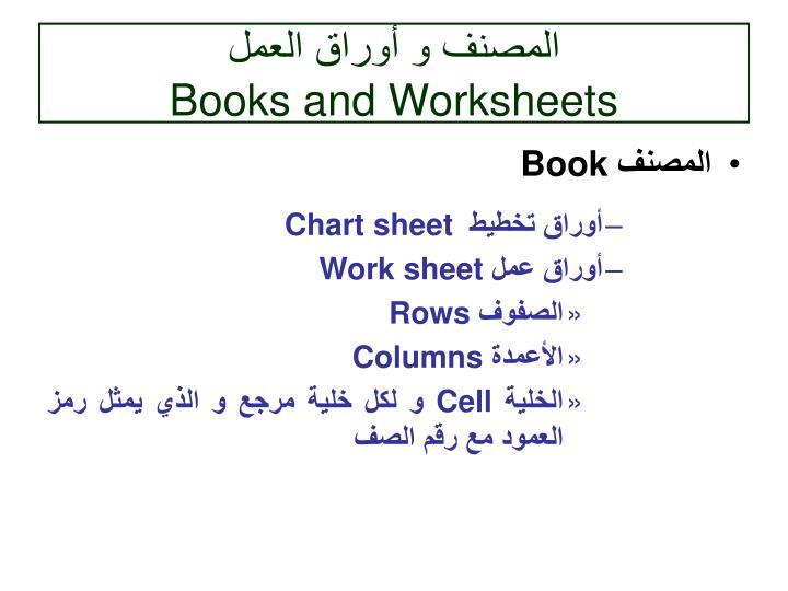 المصنف و أوراق العمل