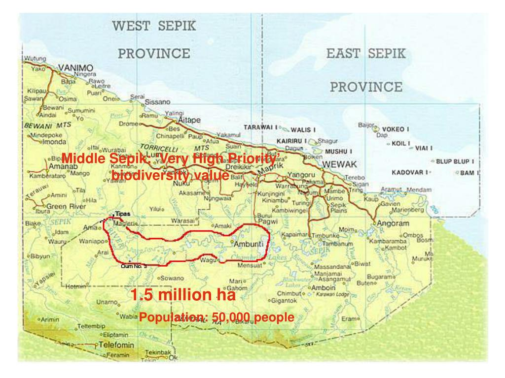 Middle Sepik: 'Very High Priority' biodiversity value
