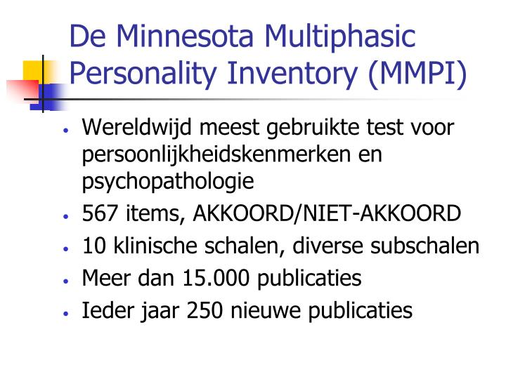 history of minnesota multiphasic personality inventory essay Free essay: post-traumatic use of minnesota multiphasic personality inventory to evaluate post more about use of minnesota multiphasic personality inventory.