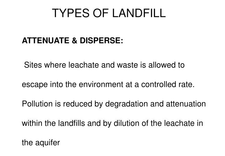 TYPES OF LANDFILL