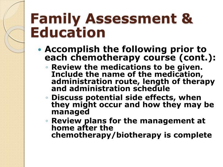 Family Assessment & Education
