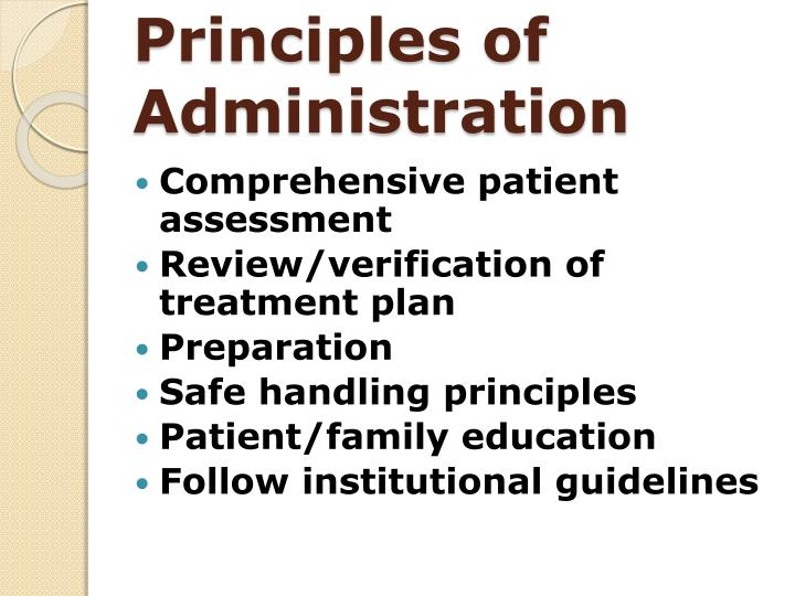 Principles of Administration