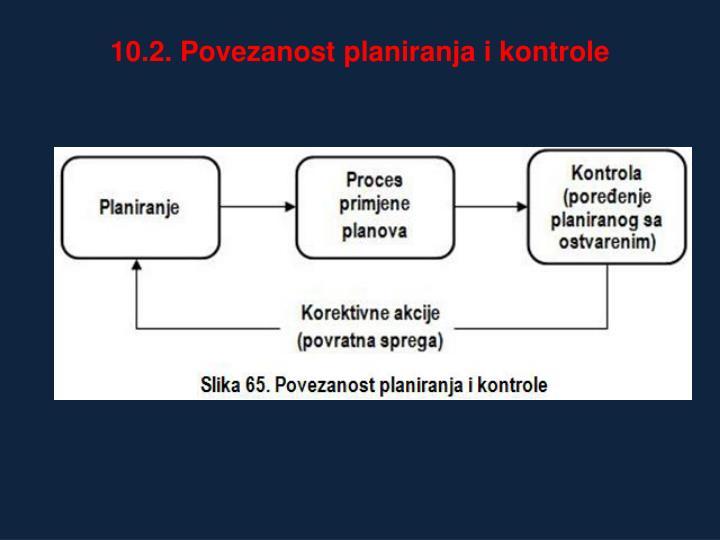 10.2. Povezanost planiranja i kontrole