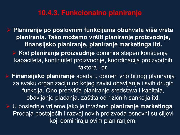 10.4.3. Funkcionalno planiranje