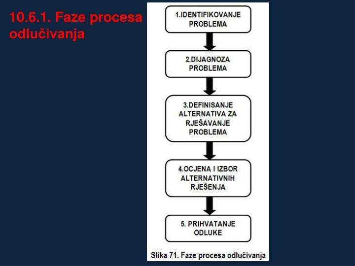 10.6.1. Faze procesa