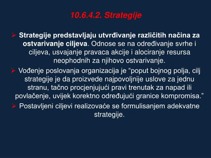 10.6.4.2. Strategije