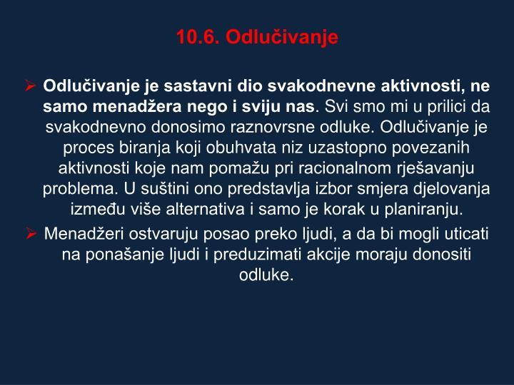 10.6. Odluivanje