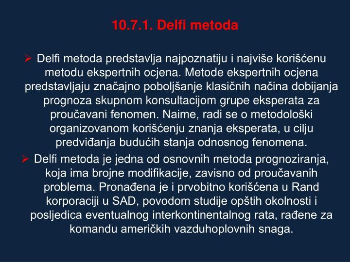 10.7.1. Delfi metoda