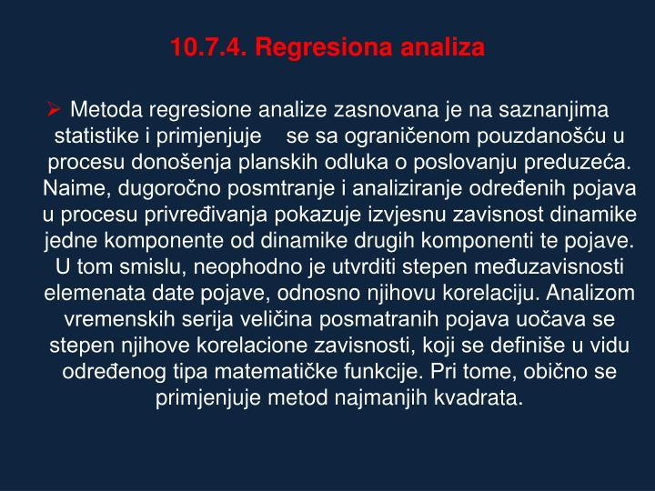 10.7.4. Regresiona analiza