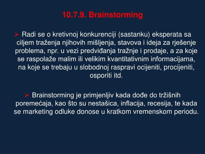 10.7.9. Brainstorming