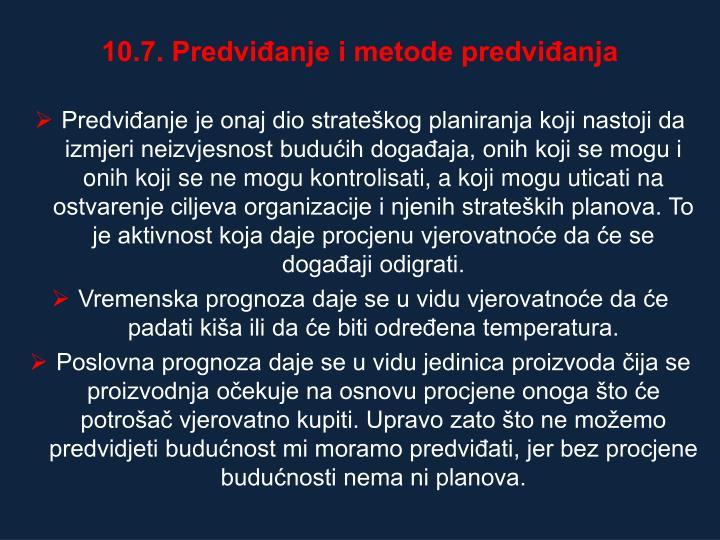 10.7. Predvianje i metode predvianja
