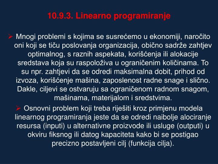 10.9.3. Linearno programiranje