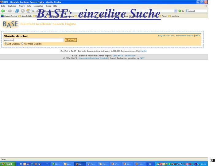 BASE:  einzeilige Suche
