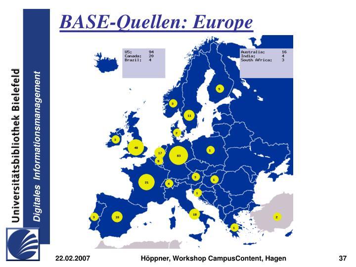 BASE-Quellen: Europe