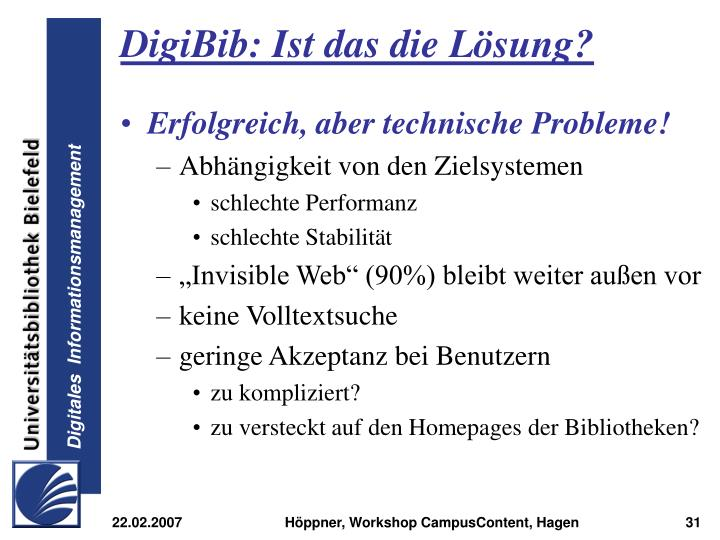 DigiBib: Ist das die Lösung?