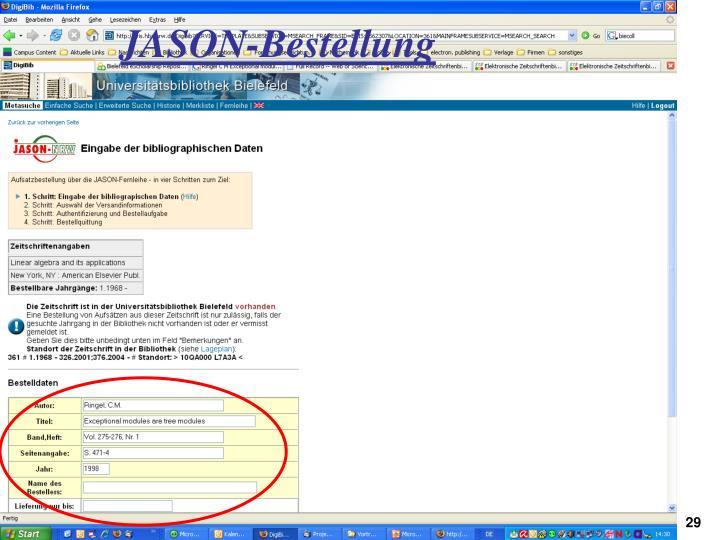 JASON-Bestellung