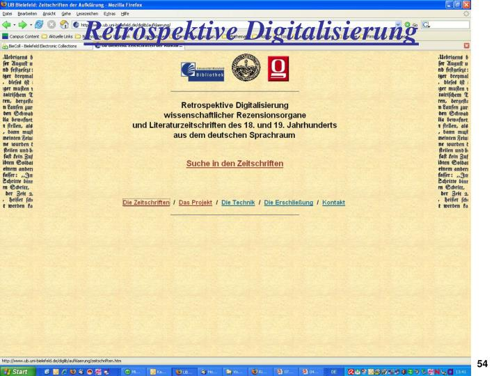 Retrospektive Digitalisierung