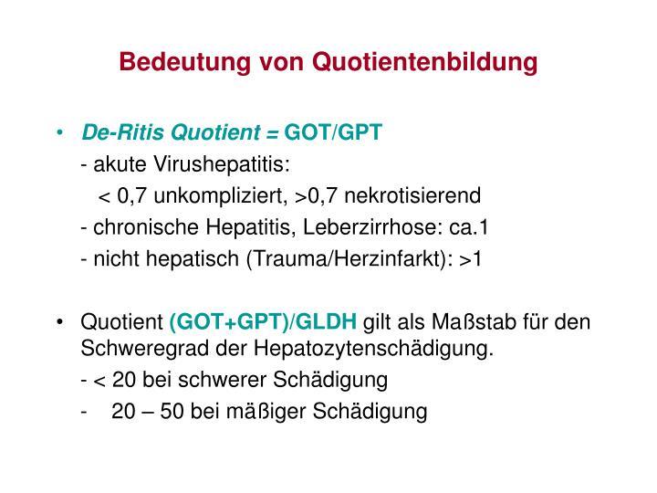De-Ritis Quotient =