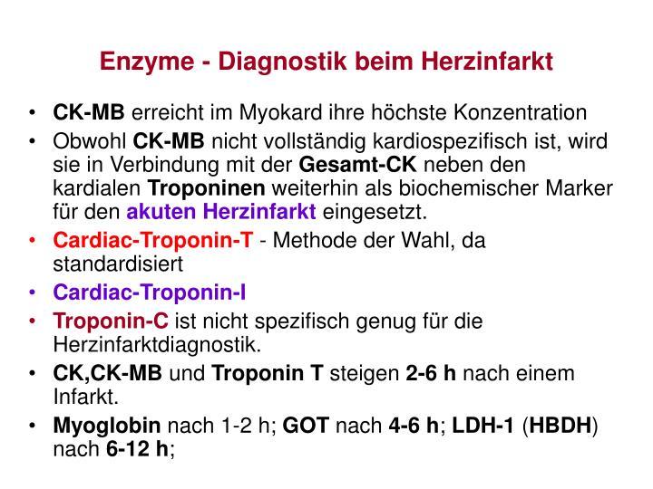 Enzyme - Diagnostik beim Herzinfarkt