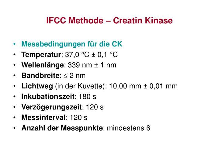 IFCC Methode – Creatin Kinase