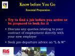 know before you go essential preparation9