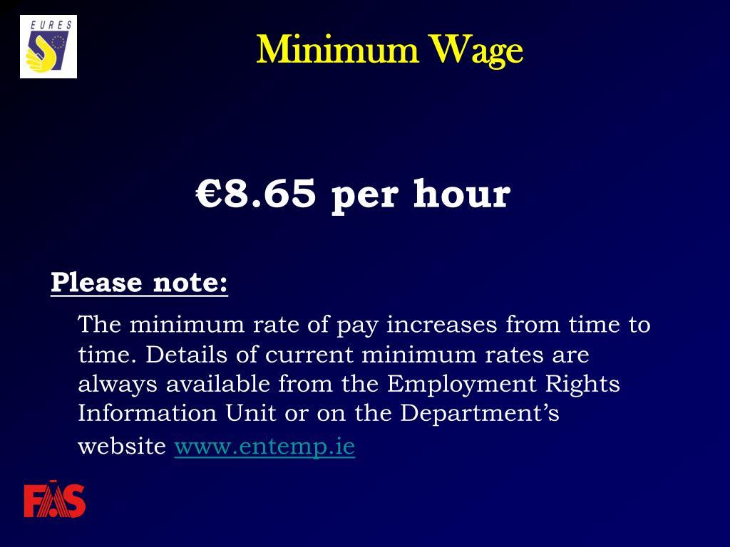 €8.65 per hour