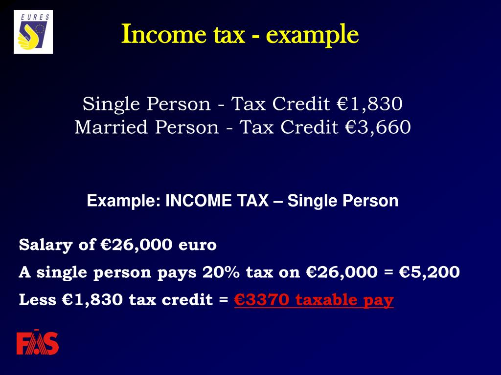 Income tax - example