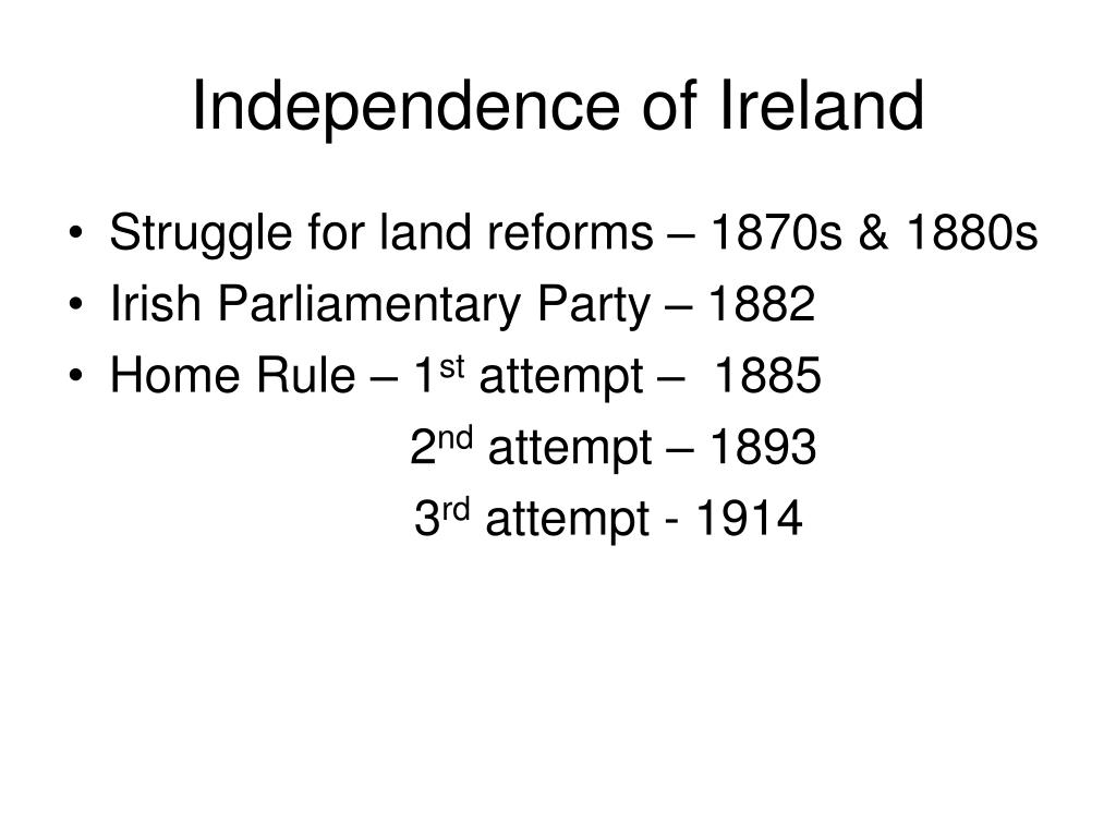 Independence of Ireland