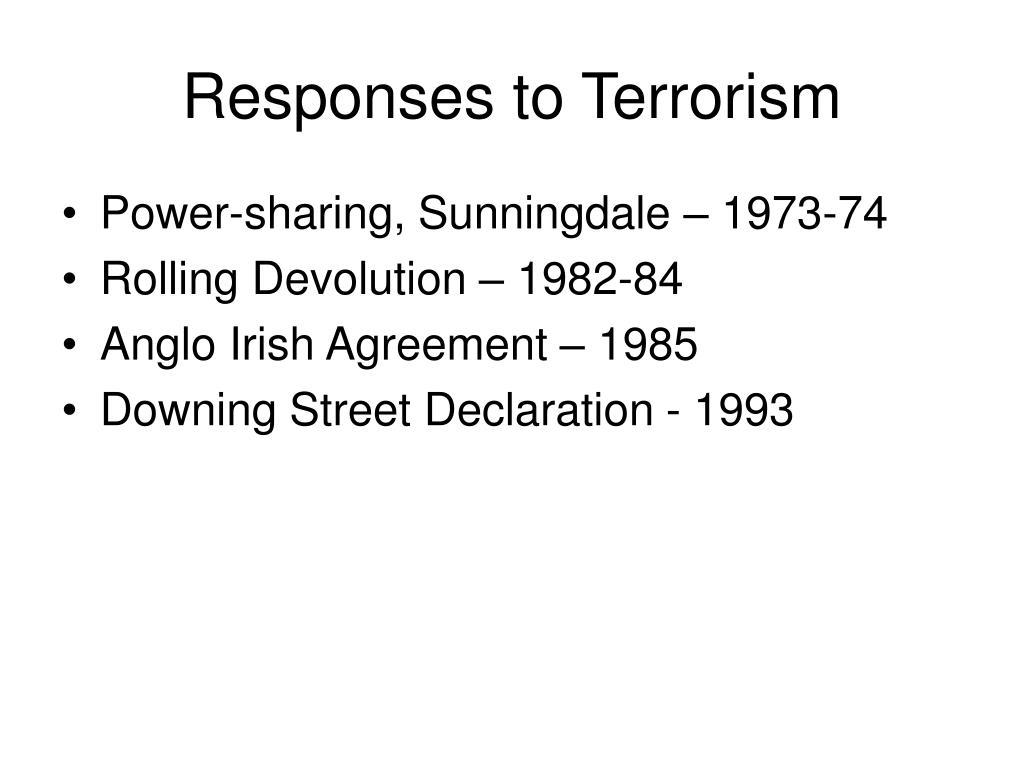 Responses to Terrorism