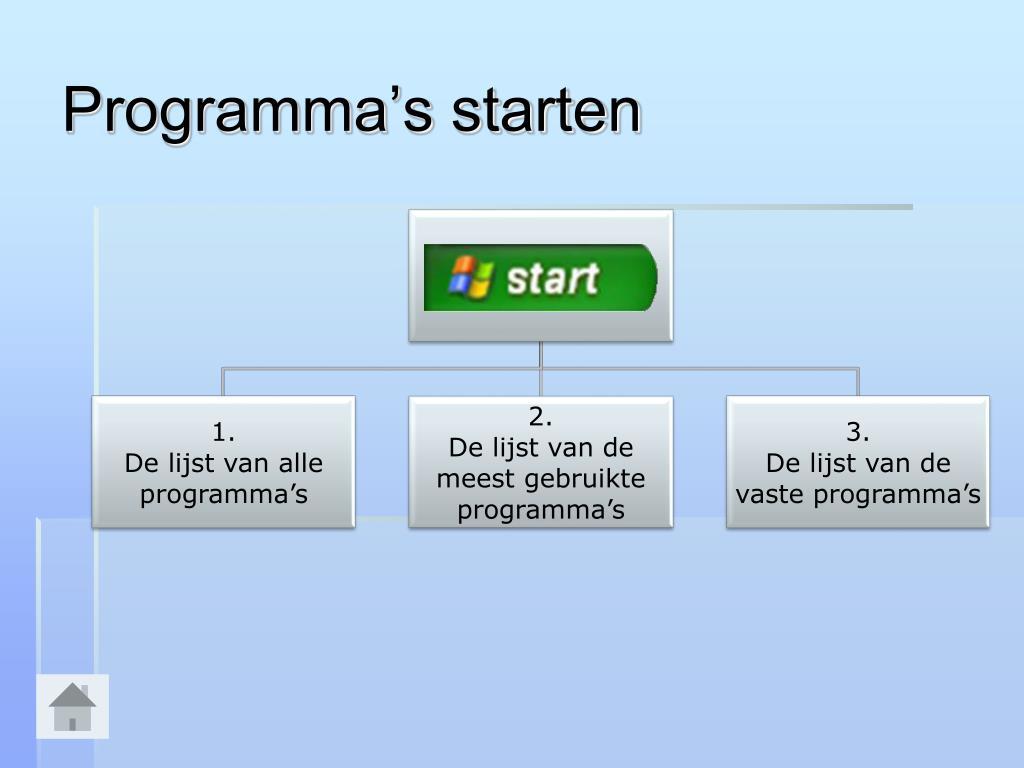 Programma's starten