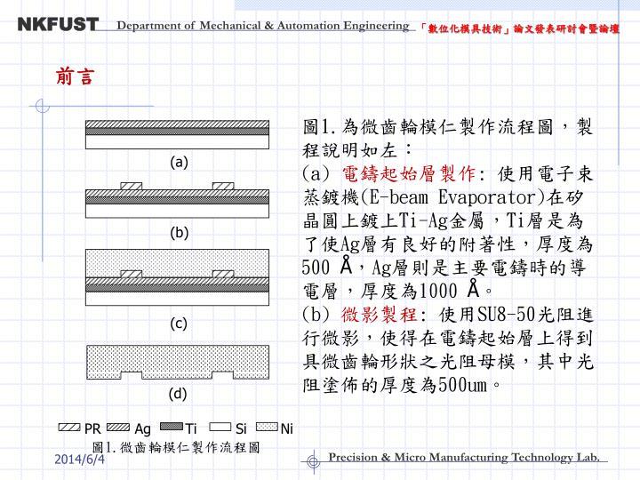 「數位化模具技術」論文發表研討會暨論壇
