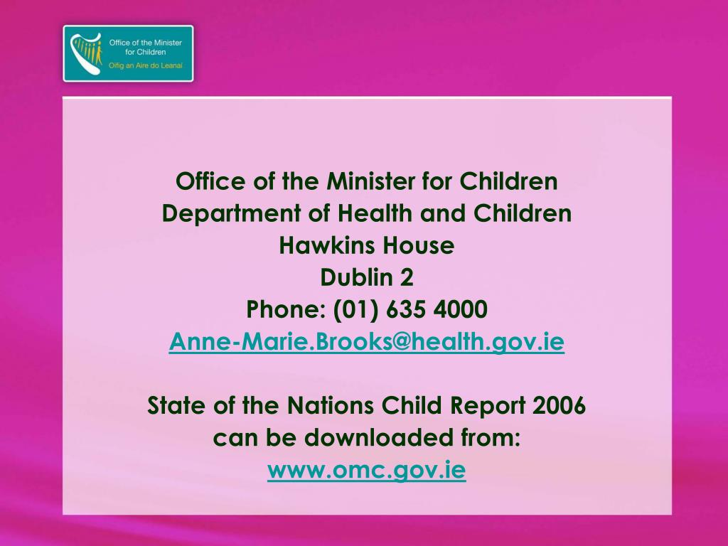 Office of the Minister for Children