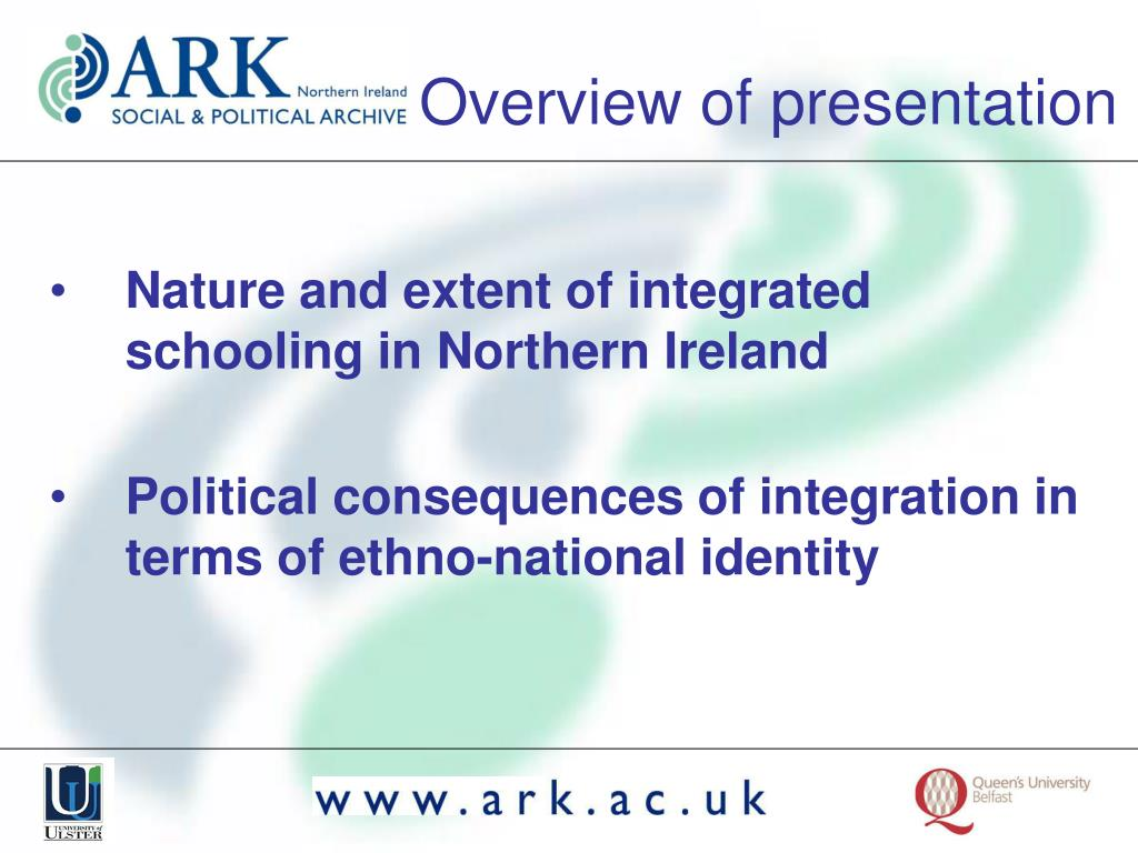 Nature and extent of integrated schooling in Northern Ireland