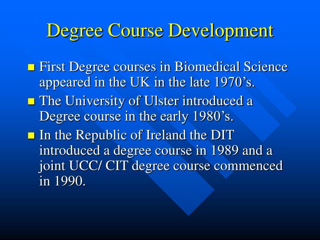 Degree Course Development