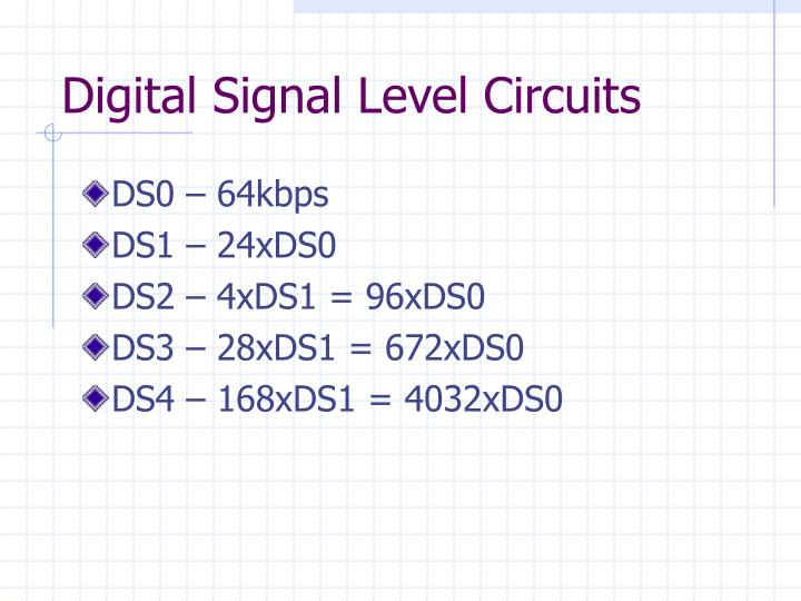 Digital Signal Level Circuits
