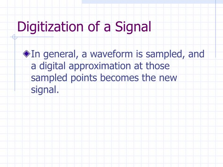 Digitization of a Signal