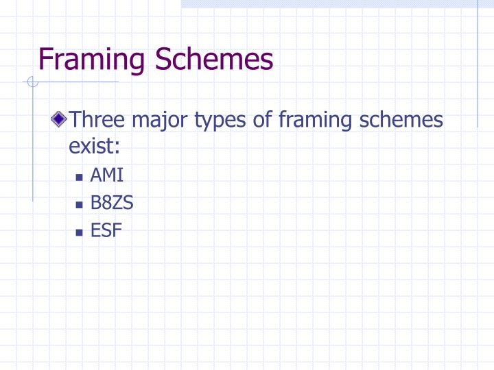 Framing Schemes