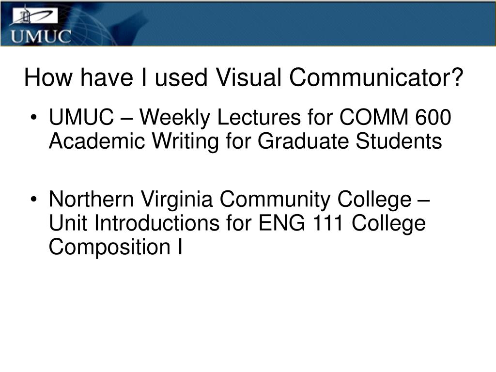 How have I used Visual Communicator?