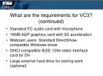 what are the requirements for vc3 continued