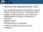 what are the requirements for vc3