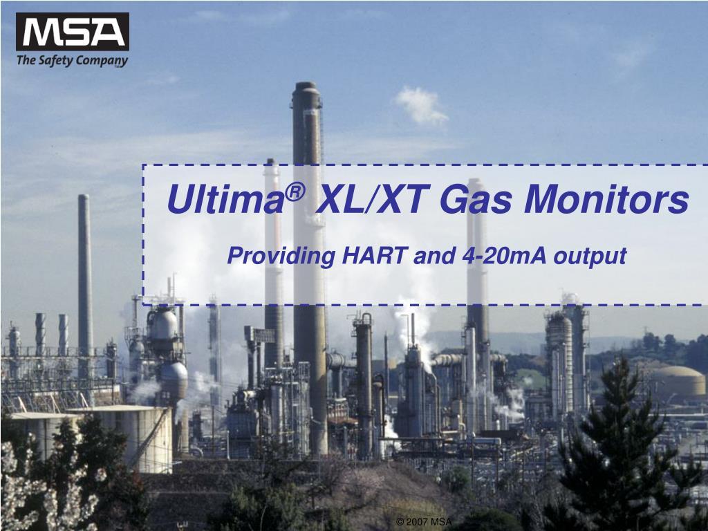 ultima xl xt gas monitors providing hart and 4 20ma output