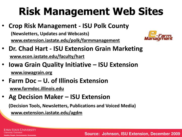 Risk Management Web Sites