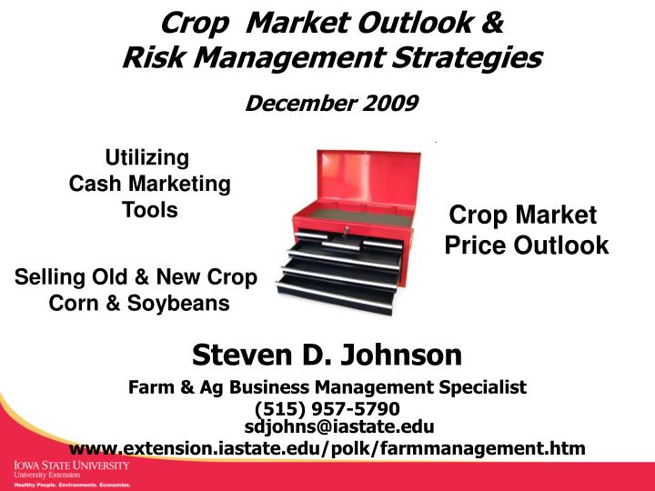 Crop  Market Outlook &