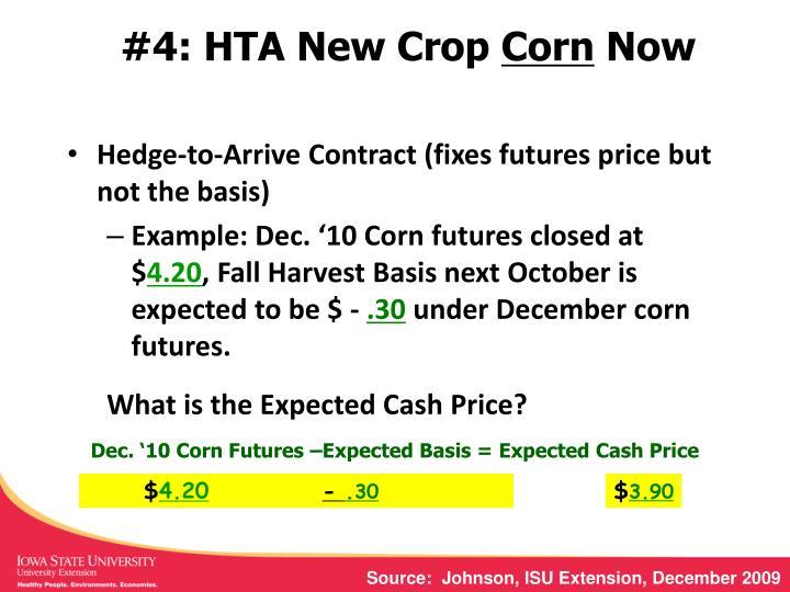 #4: HTA New Crop