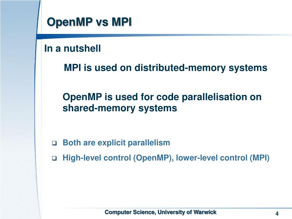 OpenMP vs MPI