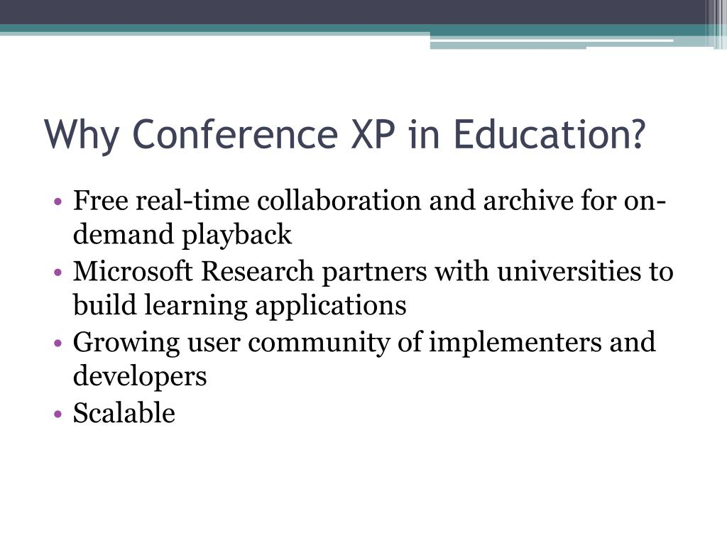 Why Conference XP in Education?