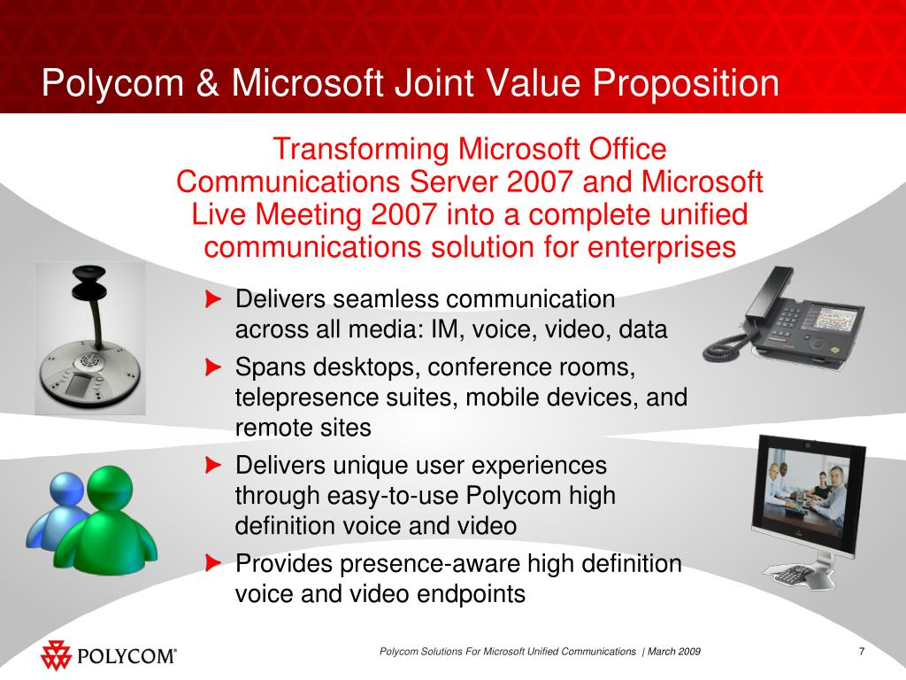 Polycom & Microsoft Joint Value Proposition