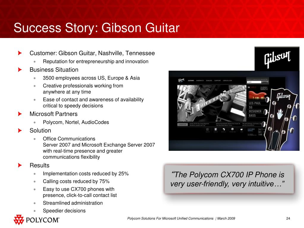 Success Story: Gibson Guitar