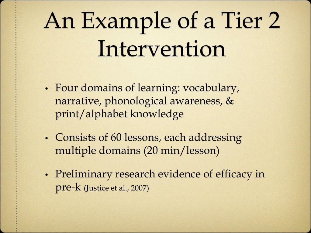 An Example of a Tier 2 Intervention