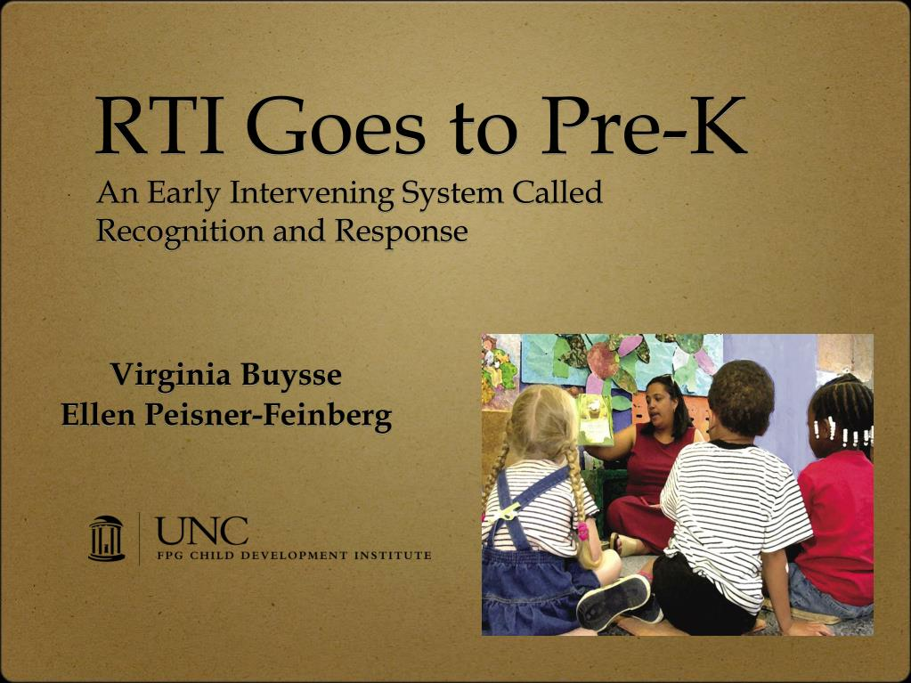RTI Goes to Pre-K